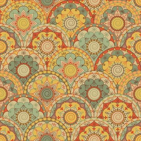 stylize: abstracte naadloze design met retro gekleurde cirkels