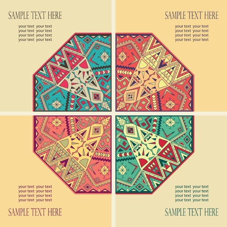 set of four cards with abstract design   Vector