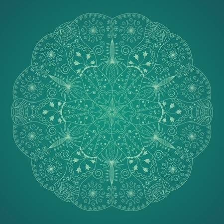 round floral pattern  Vector