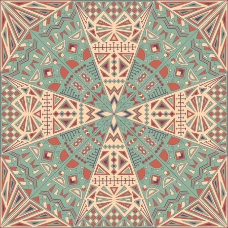 Abstract Mosaic Seamless Wallpaper    Illustration