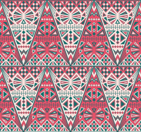 Stylish abstract pattern with different geometric shapes Vector