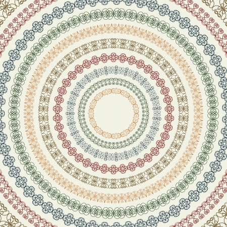 Set of vintage round frames Stock Vector - 13635936
