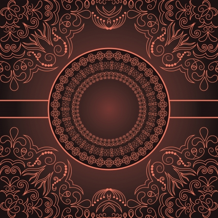 Vintage Abstract Card With Elegant Design  Vector