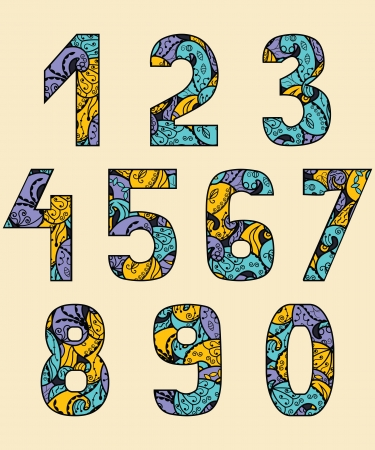 numbers abstract: Set Of Numbers With An Abstract Pattern