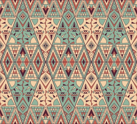 Stylish abstract pattern with different geometric shapes   Illustration