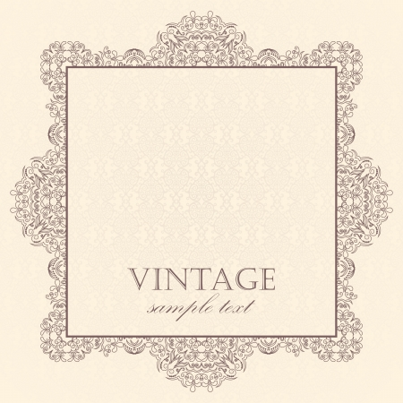 Elegante Weinlese-Karten auf einem hellen Hintergrund Damast