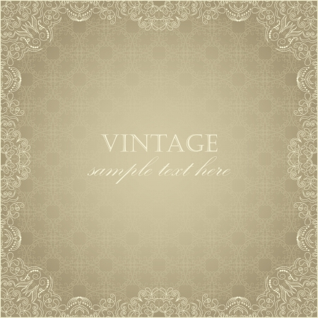 Elegant vintage card on seamless background with pastel colors