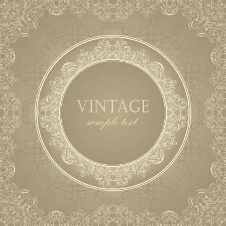 Original vintage frame in pastel colors    Vector
