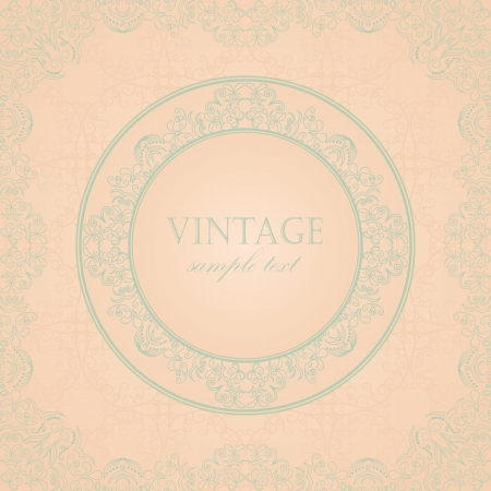 Stylish vintage greeting card in pastel colors     Vector