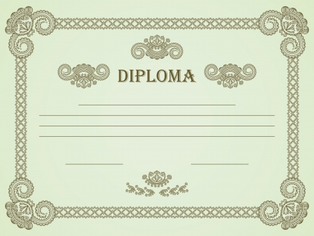 Vintage frame  Can be used as a diploma or certificate     Vector