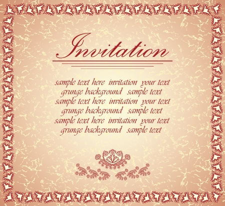 Romantic invitation. Can be used as wedding invitation, greeting card or valentine      Vector