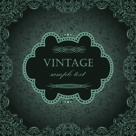 art deco background: Vintage frame in retro style. Abstract Background      Illustration