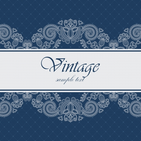 Elegant card with a blue background. Can be used as an invitation or frame            Vector