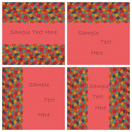 Set of four abstract cards Vector