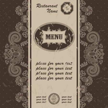 Restaurant menu design. Retro style                  Vector