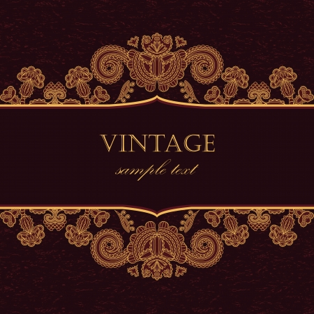 Elegant vintage card with grunge background     Vector