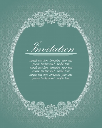 Elegant oval frame. Can be used as an invitation     Vector