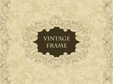 Elegant vintage card on seamless background with pastel colors Stock Vector - 15095346