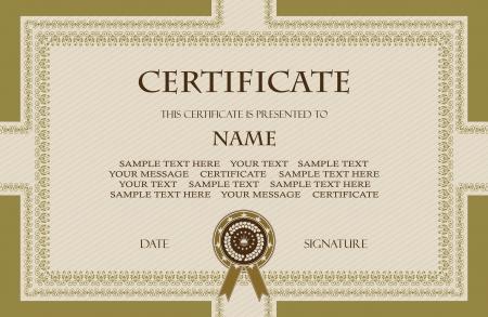 certificat diplome: Original vintage frame Peut �tre utilis� comme un dipl�me ou certificat