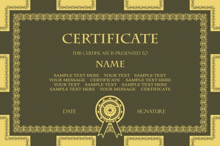 Original vintage frame  Can be used as a certificate      Vector