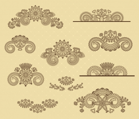 Set of floral design elements Stock Vector - 15966803