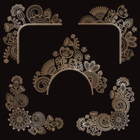 Set of floral design elements Stock Vector - 16062364