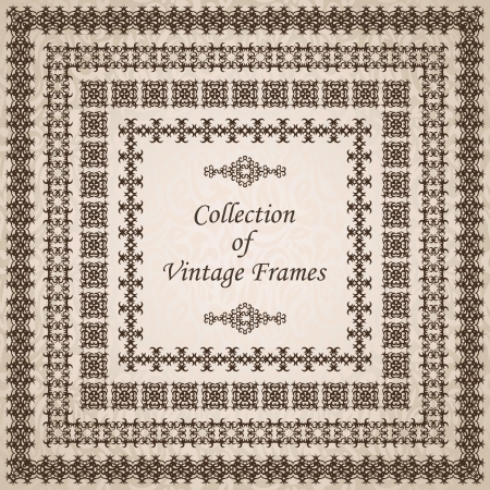 Collection of vintage frames      Vector