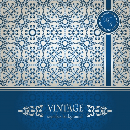 Vintage seamless wallpaper . Can be used as greeting card or invitation    Vector