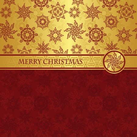 Christmas card for seamless background with snowflakes      Vector