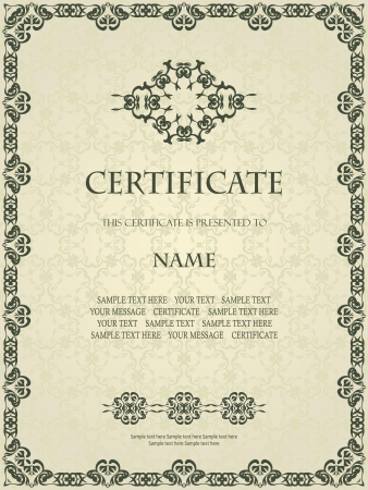 Vintage frame in retro style  Can be used as certificate      Vector