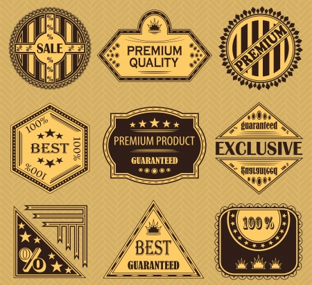 Vector set of retro labels  Vintage design      Vector