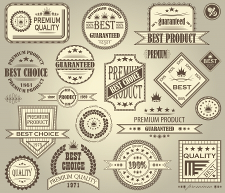Vector set of retro labels. Vintage design Vector