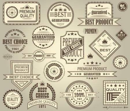 Vector set of retro labels. Vintage design Stock Vector - 16832454