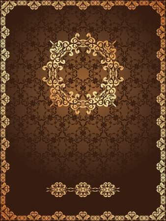 Seamless background with floral frame in retro style Vector