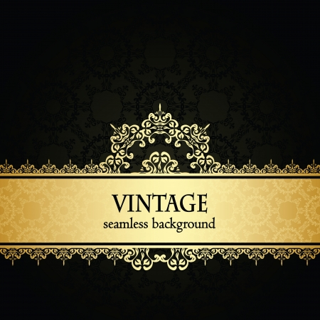Vintage damask seamless background. Can be used as invitation or a greeting card Vector