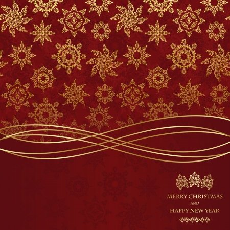 Christmas seamless wallpaper. Can be used as greeting card or invitation Vector