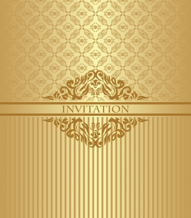 Vintage card with a seamless pattern in pastel colors. Can be used as an invitation Vector