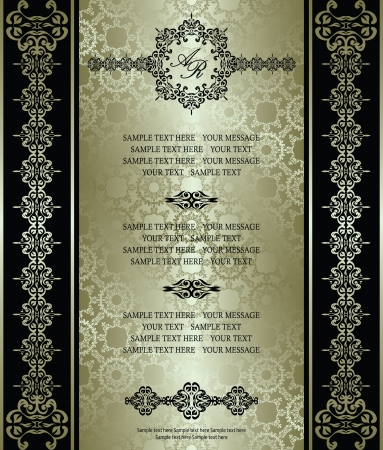 Vintage seamless background. Can be used as greeting card, invitation, menu and more    Vector