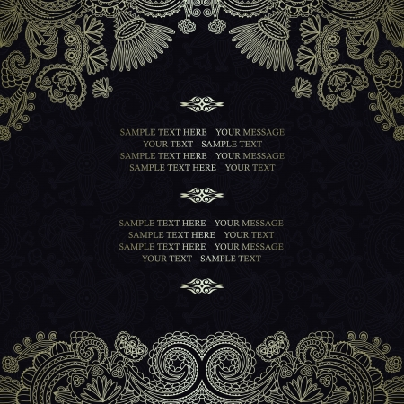 Floral pattern on a dark seamless background    Illustration