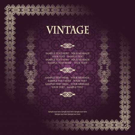 award background: Stylish vintage frame. Can be used as a diploma, certificate and other