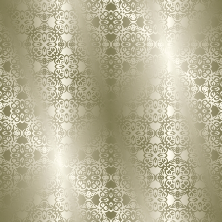 floral swirls: Seamless vintage background in silver  Seamless wallpaper