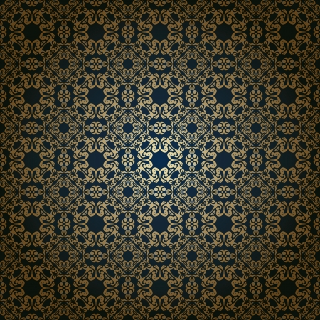 Vintage seamless wallpaper on a dark background  Seamless background  Vintage design Stock Vector - 17930893