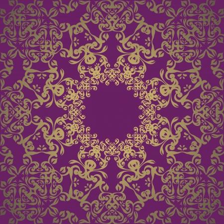 victorian scroll: Vintage lace seamless wallpaper. Retro design. Orignal style