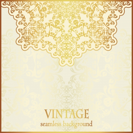 Elegant round pattern. Stylish design. Can be used as a wedding invitation or card