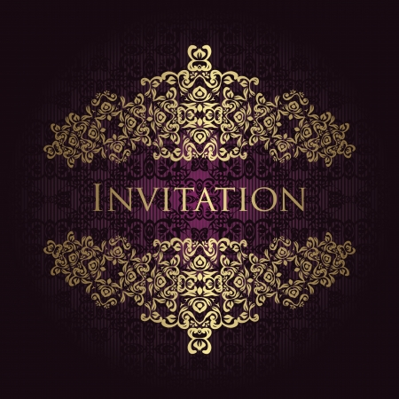 Vintage seamless background with a gold frame in retro style. Original design Stock Vector - 18131431