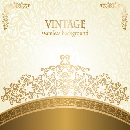 invitacion boda vintage: Invitaci�n de la boda con estilo con el patr�n de la vendimia