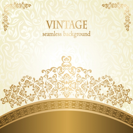 Stylish wedding invitation with vintage pattern
