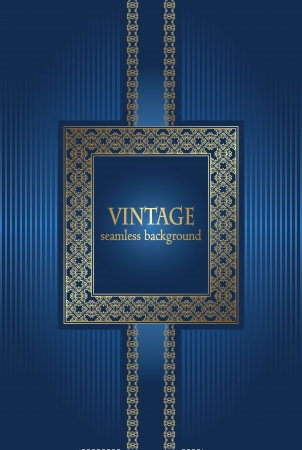 Vintage background with frame in retro style. Stylish design