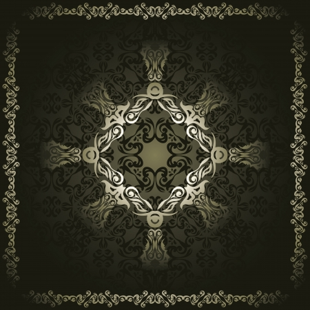 Vintage seamless wallpaper with a frame. Retro style      Vector