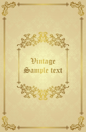 Seamless background with vintage frame. Retro design      Vector